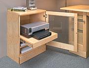 computer printer cabinet plan