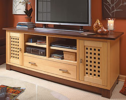 Widescreen TV Cabinet  Woodworking Plan
