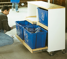 Photo - Recycling Center Woodworking Plan