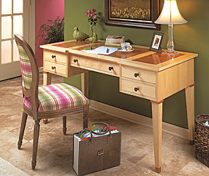5-Drawer Desk Woodworking Plan