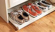 Entryway Makeover - shoes