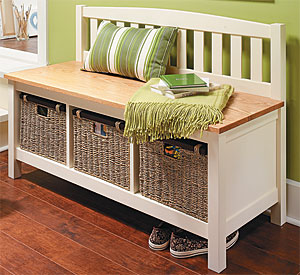 Mud Room Storage Bench Woodworking Plan