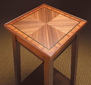 veneered accent table woodworking plan
