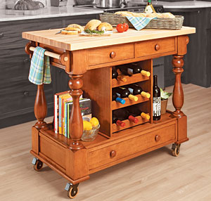 kitchen workstation woodworking plan