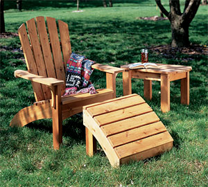 photo - Adirondack Chair and Table