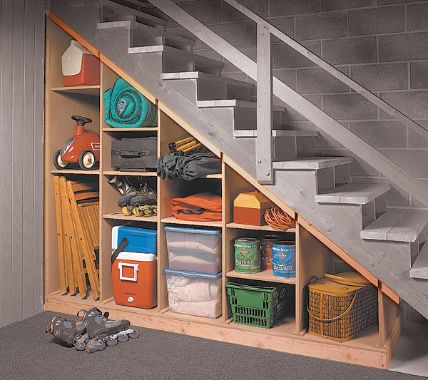 under-stair storage woodworking plan