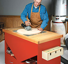 sanding station woodworking plan