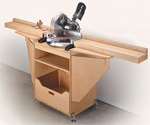 Miter Saw Station Woodworking Plan