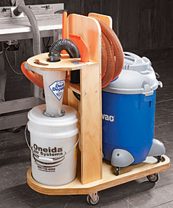 shop vacuum station woodworking plans